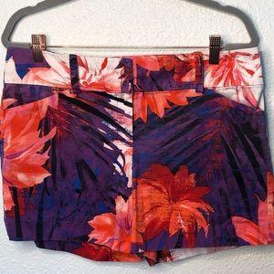Ann Taylor Floral Mini Shorts Size Womens 10